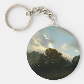 Gods Pic Basic Round Button Key Ring
