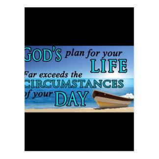 God's Plan For Your Life Postcard