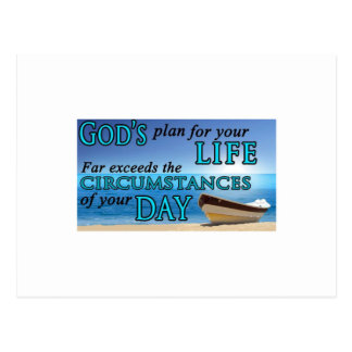 God's Plans For Your Life Postcard