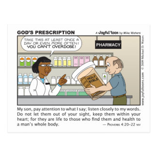 God's Prescription postcard