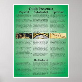 God's Presence: Physical, Substantial, Spiritual Poster
