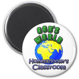 God's World- Homeschooer's Classroom 6 Cm Round Magnet