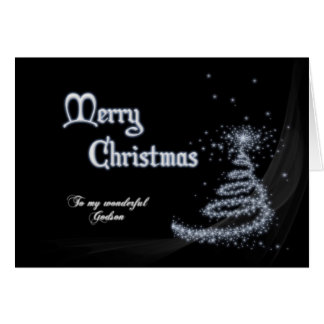 Godson, a Black and white Christmas card