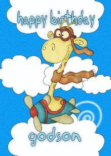 Godson cards invitations zazzle godson aeroplane airplane giraffe birthday card bookmarktalkfo Images