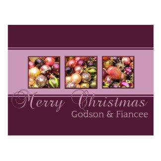 godson and fiancee Merry Christmas card Postcard