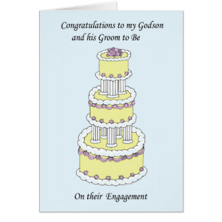 Godson and his groom on their Engagement. Card