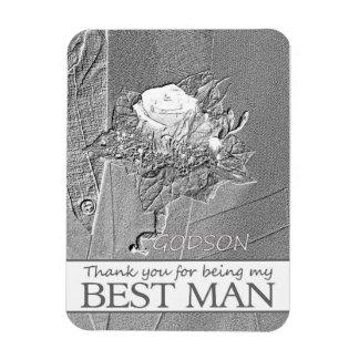 Godson    best man thank you rectangular photo magnet