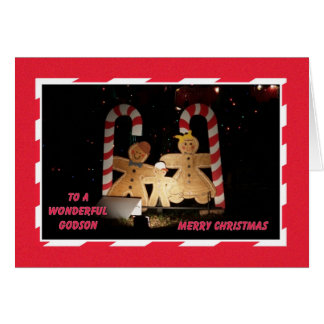 Godson Christmas Card -- Gingerbread