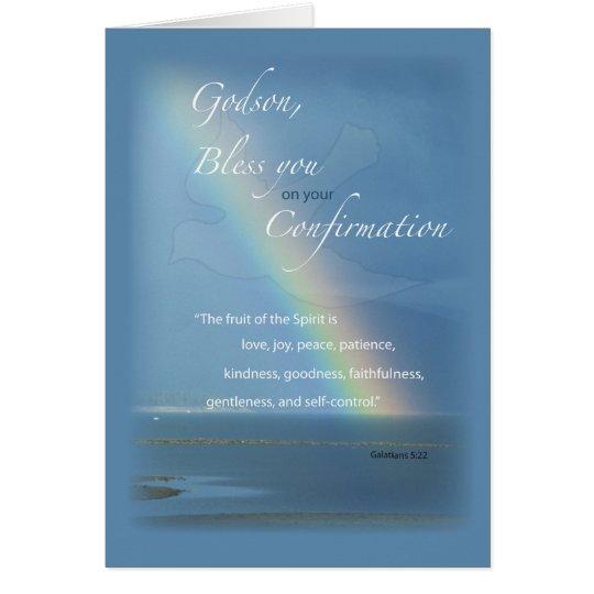 Godson, Confirmation Rainbow Congratulations Card