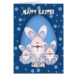 Godson easter gifts on zazzle uk godson easter greeting card with cute rabbits negle Gallery