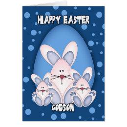 Godson easter gifts on zazzle uk godson easter greeting card with cute rabbits negle Choice Image