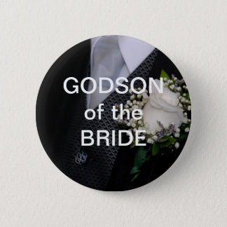 Godson Of The Bride 6 Cm Round Badge