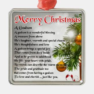 Godson poem - Christmas Design Christmas Ornament