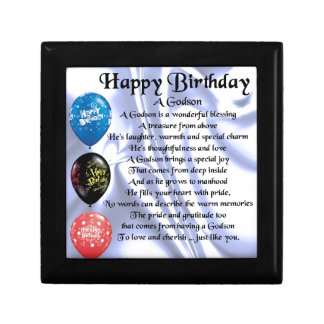 Godson Poem - happy birthday design Gift Box
