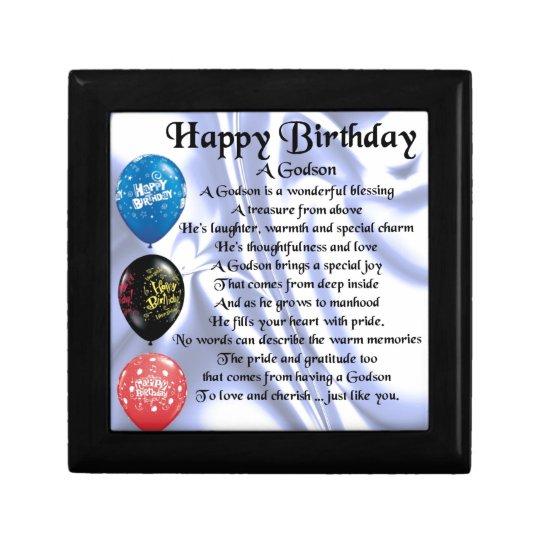 Godson Poem - happy birthday design Gift Box