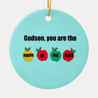 Godson, you are the apple of my eye! christmas ornament