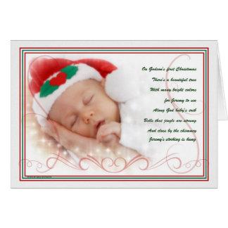 Godson's 1st Christmas   Custom Greeting Card