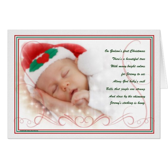 Godson's 1st Christmas Cute Baby Poem with Name