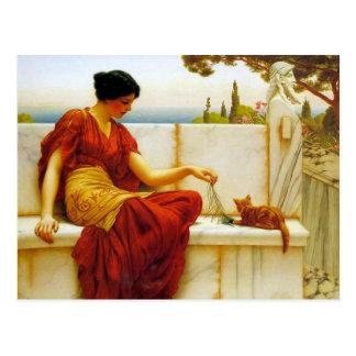 Godward's The Tease Postcard