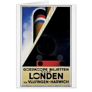 Goedkoope Biljetten - Vintage Travel Ad Card