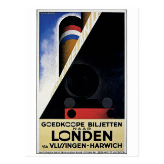 Goedkoope Biljetten - Vintage Travel Ad Postcard