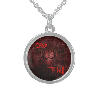Goes to hell sterling silver necklace