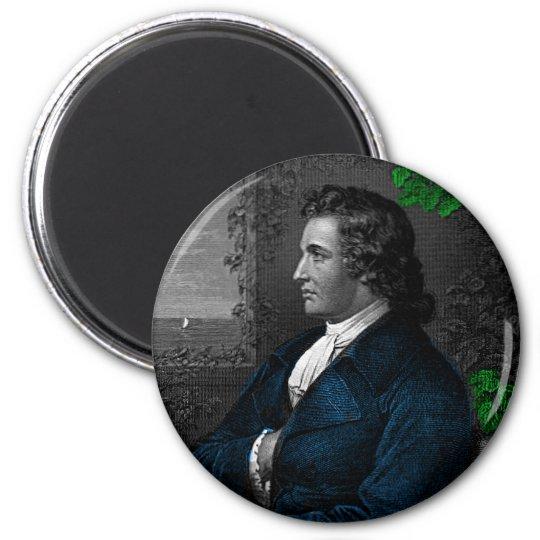 Goethe 6 Cm Round Magnet