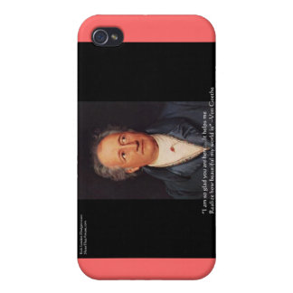 """Goethe """"Beautiful World"""" Quote Gifts Cards Etc iPhone 4/4S Case"""