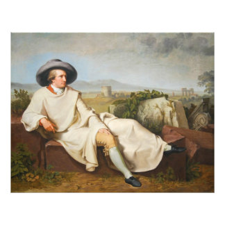 Goethe in the Roman Campagna by Tischbein 1787 Photograph