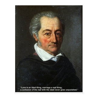 Goethe Love Quote Gifts Cards Love/Ideal Thing Postcard