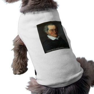 Goethe Love Quote Gifts Cards Love/Ideal Thing Sleeveless Dog Shirt