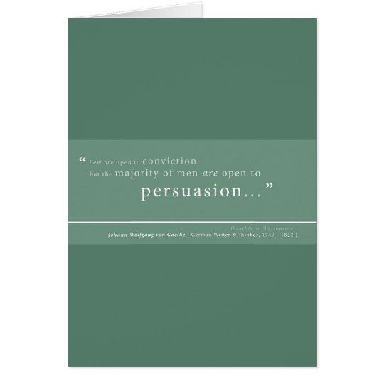 Goethe on 'Persuasion' Card