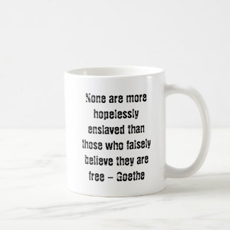 Goethe Quote w/ Anonymous Pirate Coffee Mug