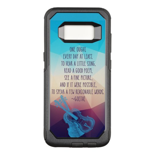 Goethe Speaks About Daily Focus OtterBox Commuter Samsung Galaxy S8 Case