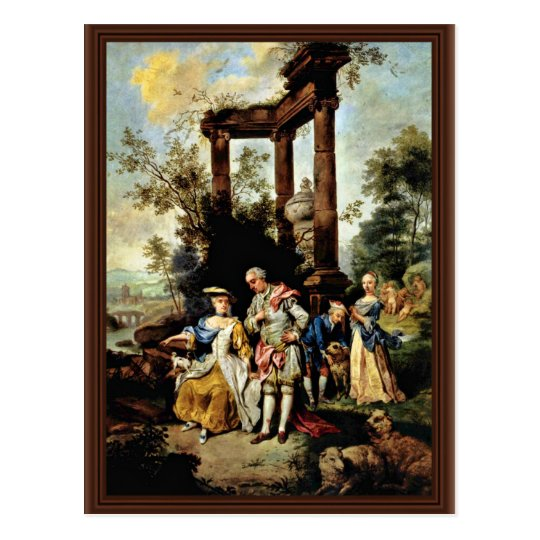 Goethe'S Family In Shepherd'S Dress By Seekatz Joh