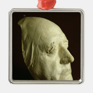 Goethe's Mask, 1807 Silver-Colored Square Decoration