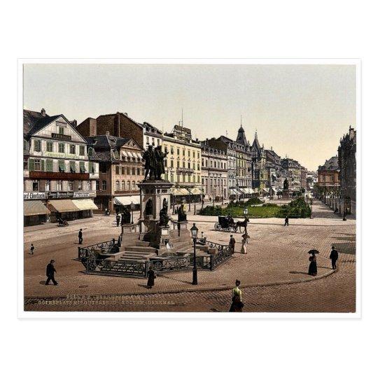 Goethe's Place and Goethe-Gutenburg Monument, Fran Postcard