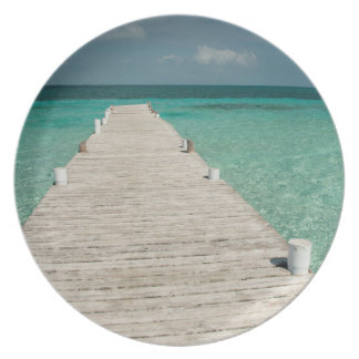 Goff Caye, a popular Barrier Reef Island Plate
