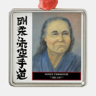 Gogen Yamaguchi Silver-Colored Square Decoration