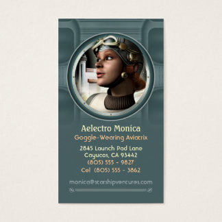 Goggled Aviatrix Business Cards