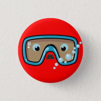 Goggles 3 Cm Round Badge
