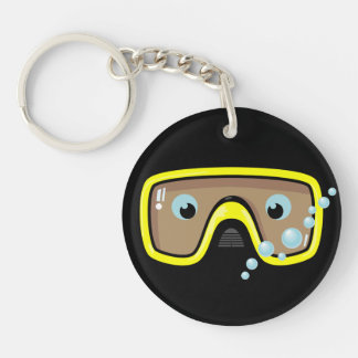 Goggles Personalised Key Ring