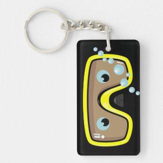Goggles Single-Sided Rectangular Acrylic Key Ring