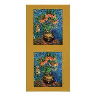 Gogh Fritillaries In Vase Blossoms Peace Love Art