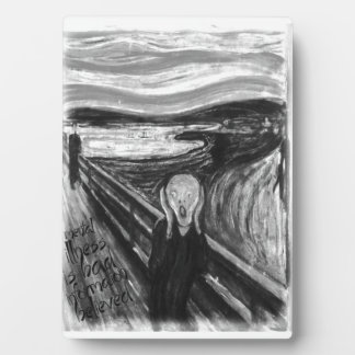 Gogh Mental Remake: The Scream by Edvard Munch Display Plaques