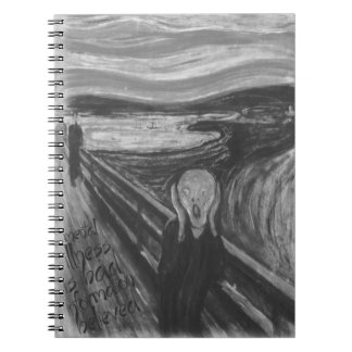 Gogh Mental Remake: The Scream by Edvard Munch Notebook
