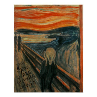Gogh Mental Remake: The Scream by Edvard Munch Poster