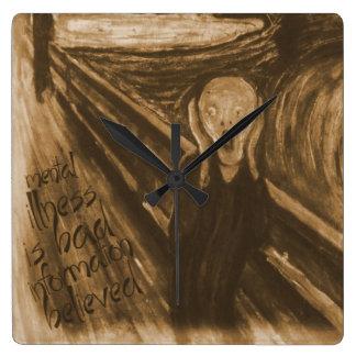 Gogh Mental Remake: The Scream by Edvard Munch Wallclock