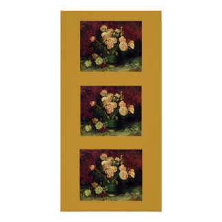Gogh Peonies Flowers Blossoms Peace Love Art Color
