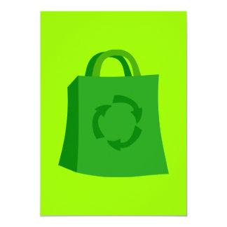 GoGreenShoppingBag_Vector_Clipart 13 Cm X 18 Cm Invitation Card